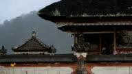 Rainy Bali Temple video