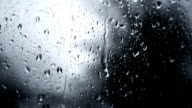 Rainy Day Rain Drops On Glass (Full HD) video