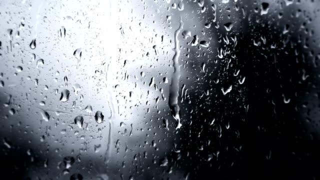 Rainy Day Rain Drops On Glass (Full HD) video