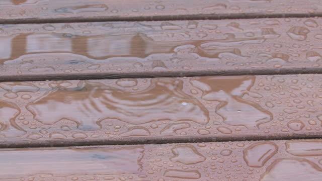 Rainy deck 1 - HD 30F video