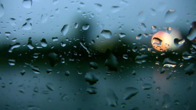 Rainy highway drive. Defocused lights. video