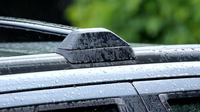 Rainy roofrack. video