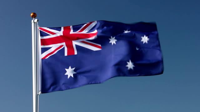 Raising Australia flag video