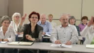 HD: Raising Hands For Voting On The Seminar video