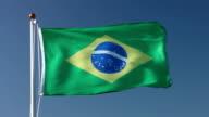 Raising the Brazil national flag video