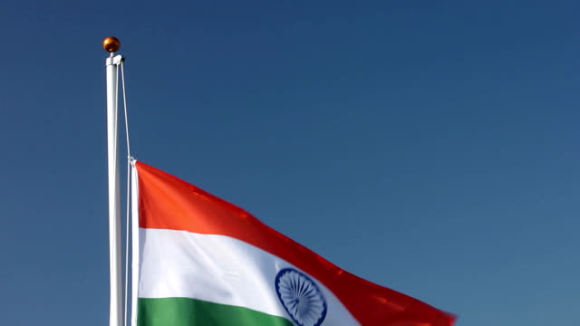 Raising the Indian national flag video