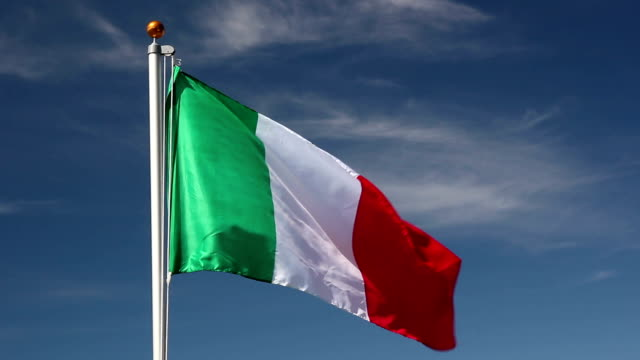 Raising the Italy Flag video