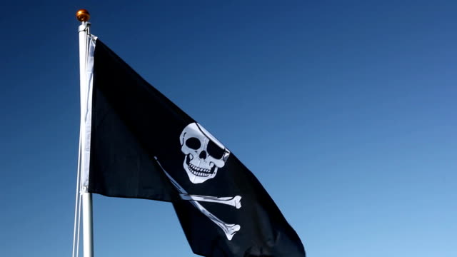 Raising the Jolly Roger Pirate flag video
