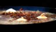 Raisins in Pilaf Afghan, Uzbek, Tajik national cuisine dish cooking video