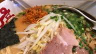 Ramen champion with creamy soup , Bangkok , Thailand. video