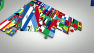 Random country flag puzzle video