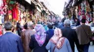 Random crowd in Beyazid bazaar in istanbul video