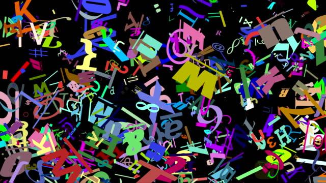 Random graphics shapes animation video