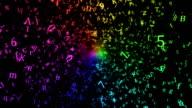 Random Letters Abstract Animation - Loop Rainbow video