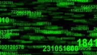 Random numbers data flow seamless loop video
