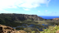 Rano Kau Volcano, Easter Island, Chile video