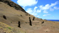 Rano Raraku Moais, Easter Island, Chile video
