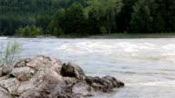 Rapid for the Katun River. Altai Krai. video