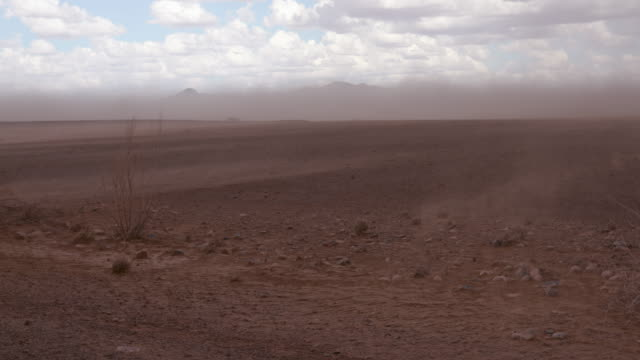 A rare view of a rain storm in the Namib Desert video