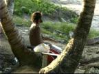 Rasta Drummer on Beach video