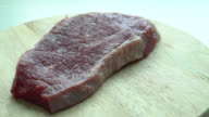 Raw beef meat video