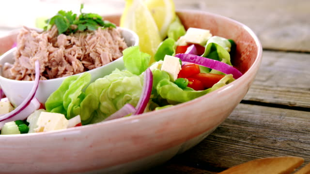 Raw meat and vegetables in bowl video