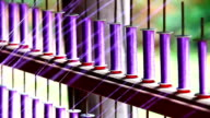 Raw silk thread in silk factory production line video