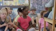 Reading a Book in Preschool video