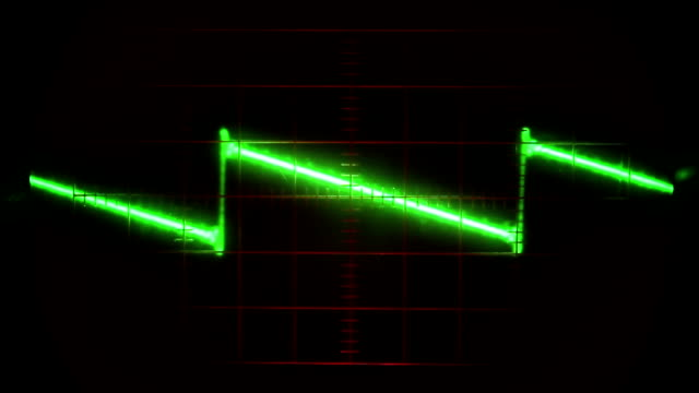 Reading a signal pulse on a classic oscilloscope video