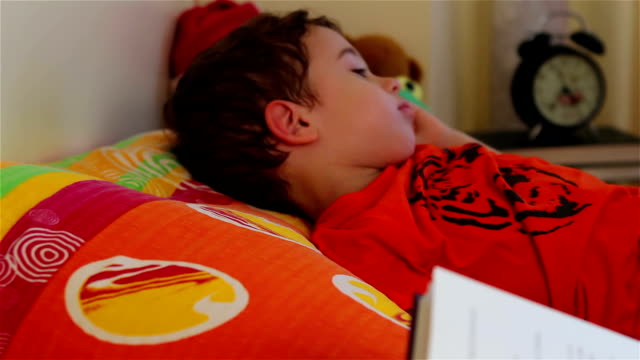 Reading a story for little boy to sleep video