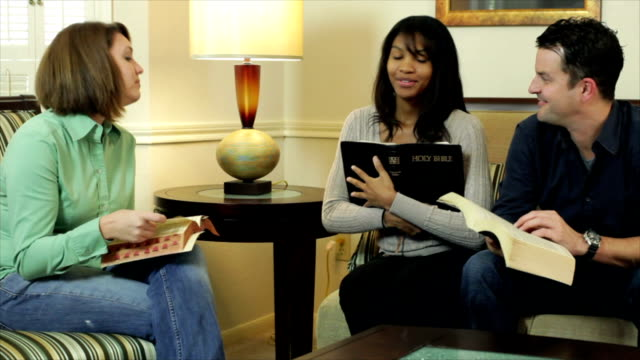 Reading and Discussing Bible Scripture video