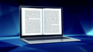 Reading electronic books. Blue version. video
