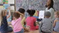 Reading in Preschool with Friends video