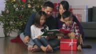 Reading with Family on Christmas video