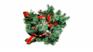 real 3D christmas wreath video