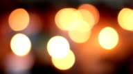 Real Candle Bokeh Background video
