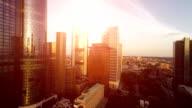 real estate background. city skyline video