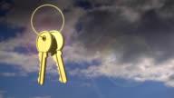 Real Estate Door Keys Swinging video