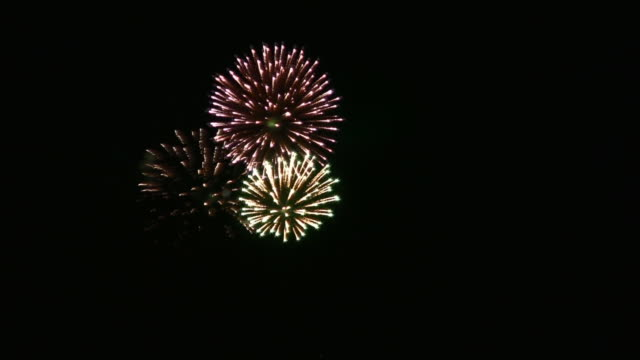 Real fireworks (HD) video