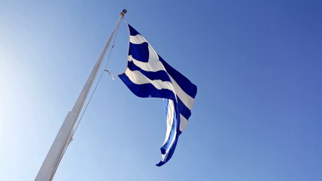 Real Greece Flag and Sky Nobody video