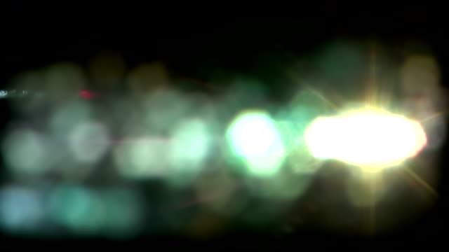 Real Light Leaks and Bokeh - Loop 16 - Green - Slow video