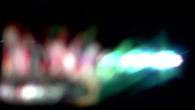 Real Light Leaks and Bokeh - Loop 17 - Colorful - Slow video
