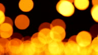 LR Real Panning Candle Bokeh Blurred Light Abstract Background video