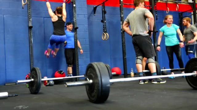 Real People Athletes in a Cross Training Fitness Class video