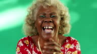 Real People Portrait Funny Elderly Woman Hispanic Lady Laughing video
