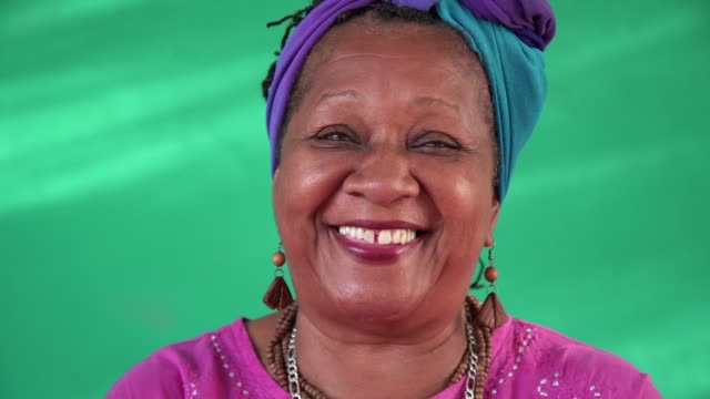 Real People Portrait Happy Senior Black Woman Face video