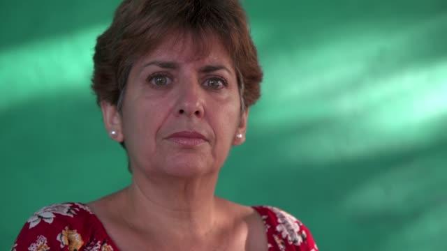 Real People Portrait Sad Depressed Woman Looking At Camera video