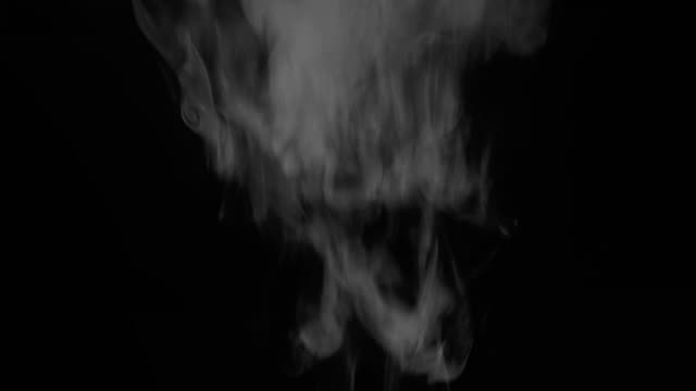 real smoke on black video