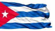 Realistic 3D detailed slow motion Cuba flag in the wind video