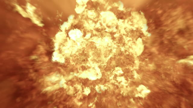 Realistic 4K Fireball Explosion video